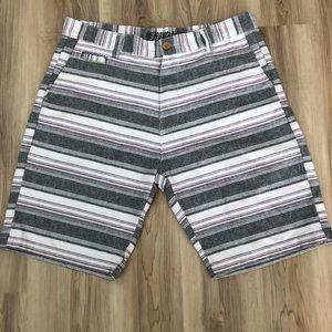 2/$12 Kudela Striped Shorts